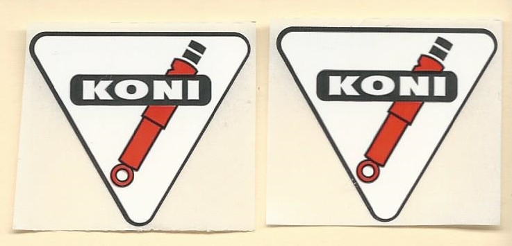 Koni Racing Decals Stickers For Use On Shock