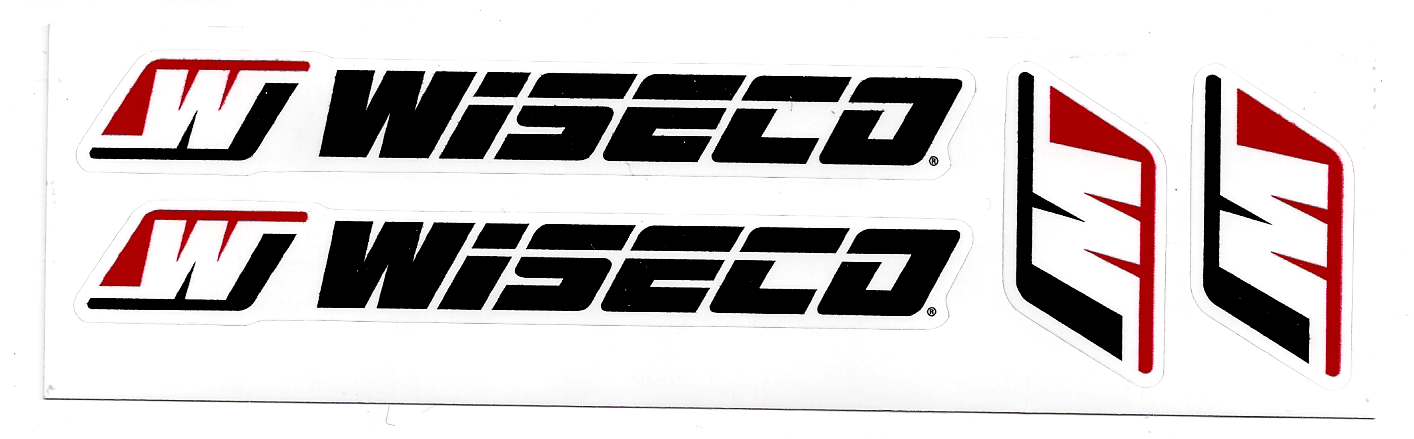 Wiseco Racing Decal Sticker Sheet Of 4