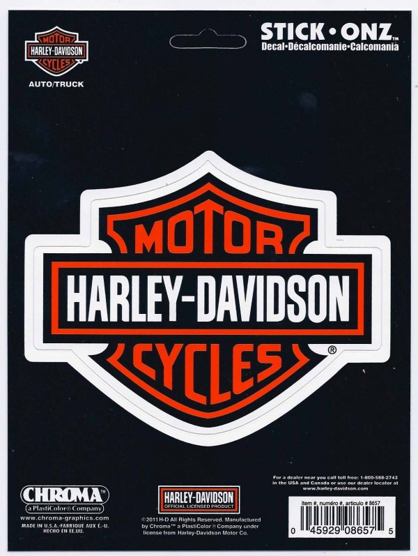 harley davidson decal 5 inches long | crashdaddy racing decals