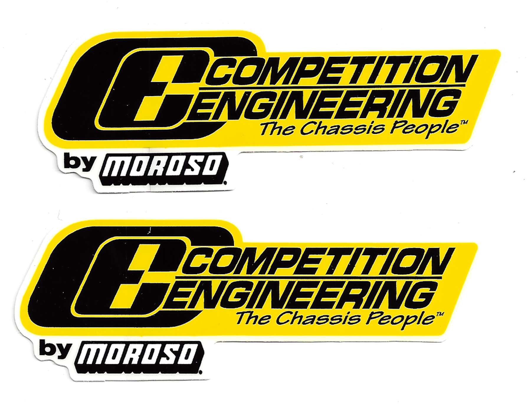Competition Engineering Racing Decals Large Pair CrashDaddy - Racing decals