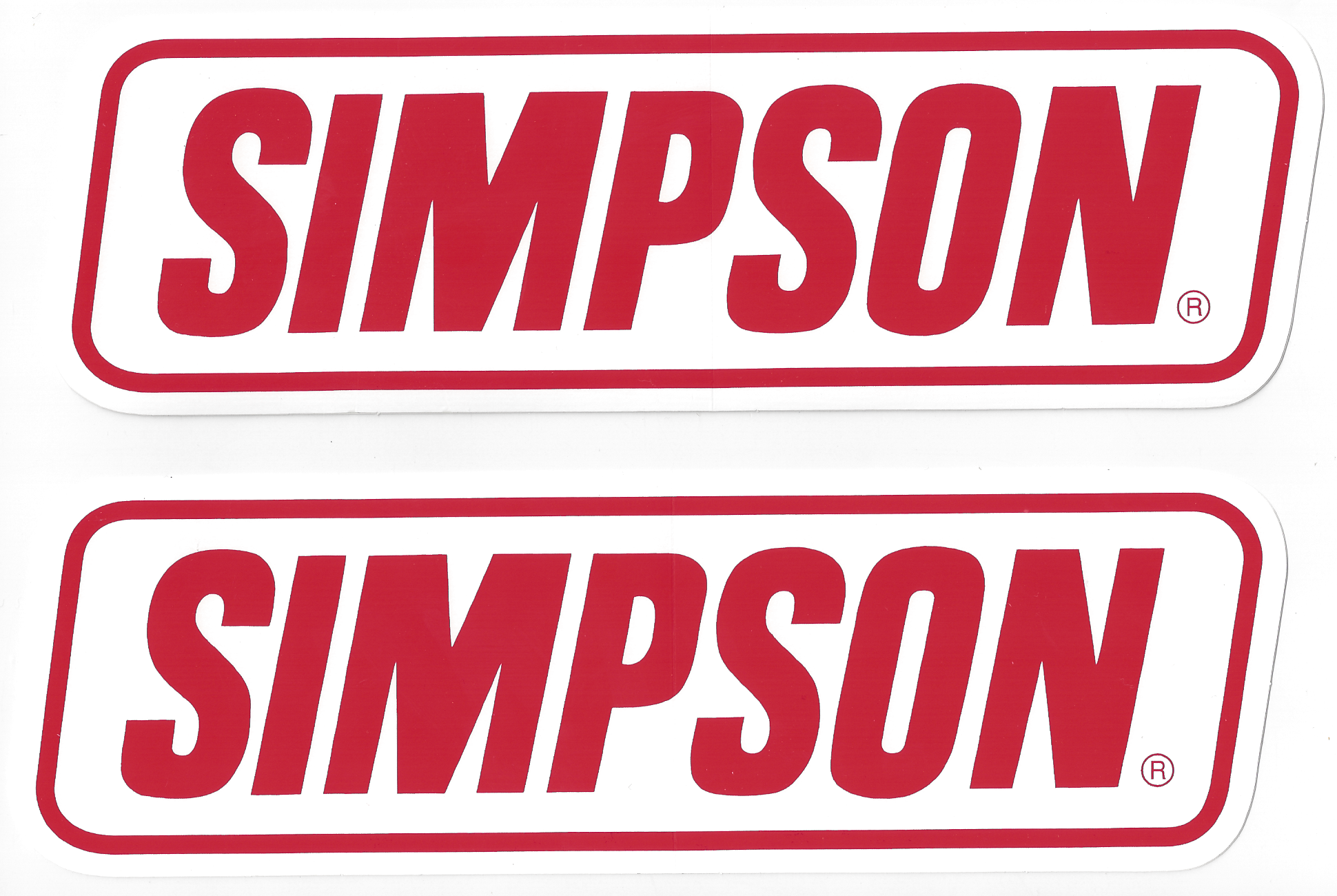 Simpson Racing Decals Stickers  Inches Paired CrashDaddy Racing - Racing decals
