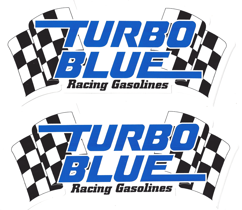 turbo blue racing decals stickers 9 inches paired crashdaddy