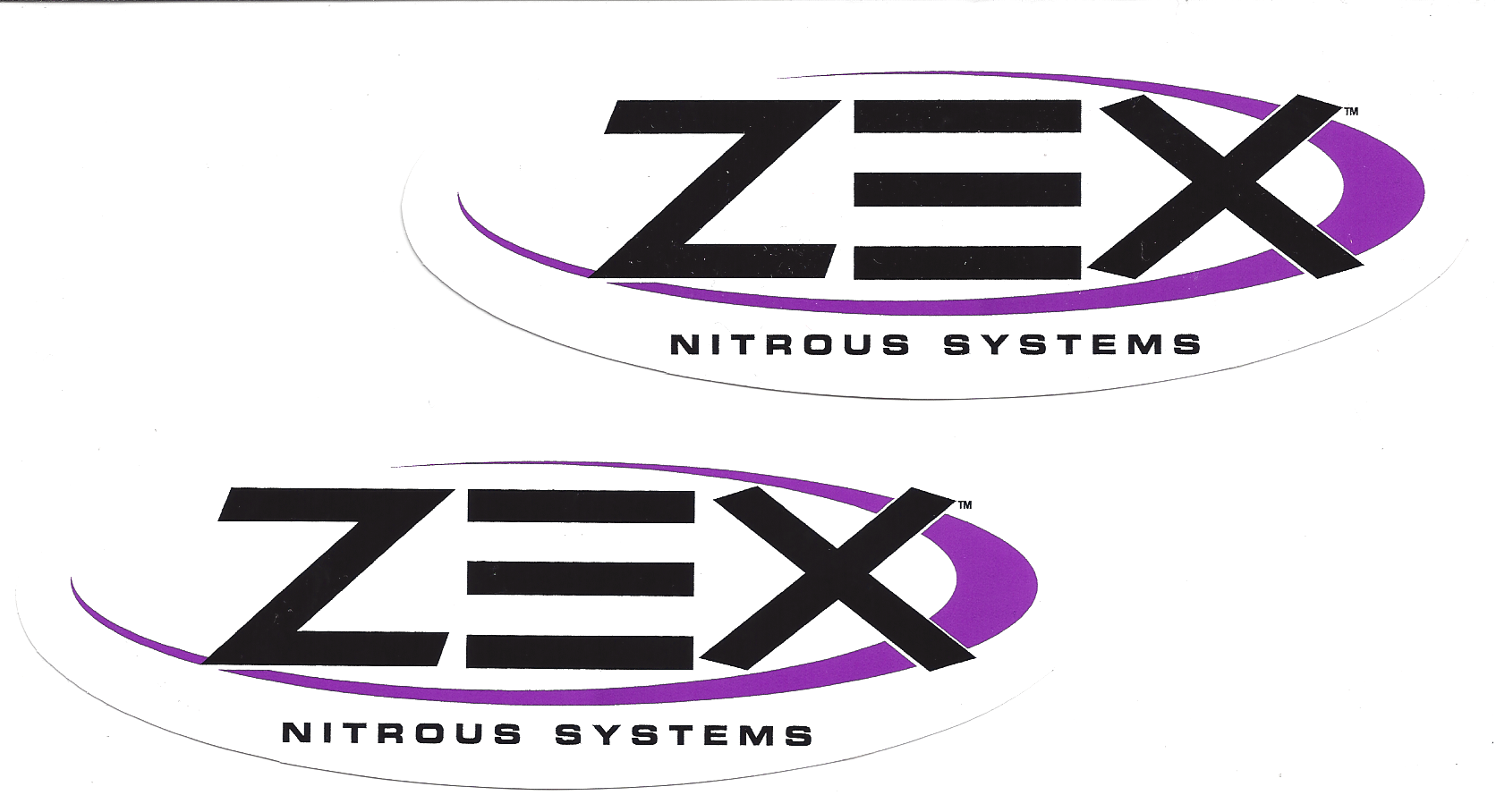 Zex Racing Decals Stickers 6 Inches Long Paired ...