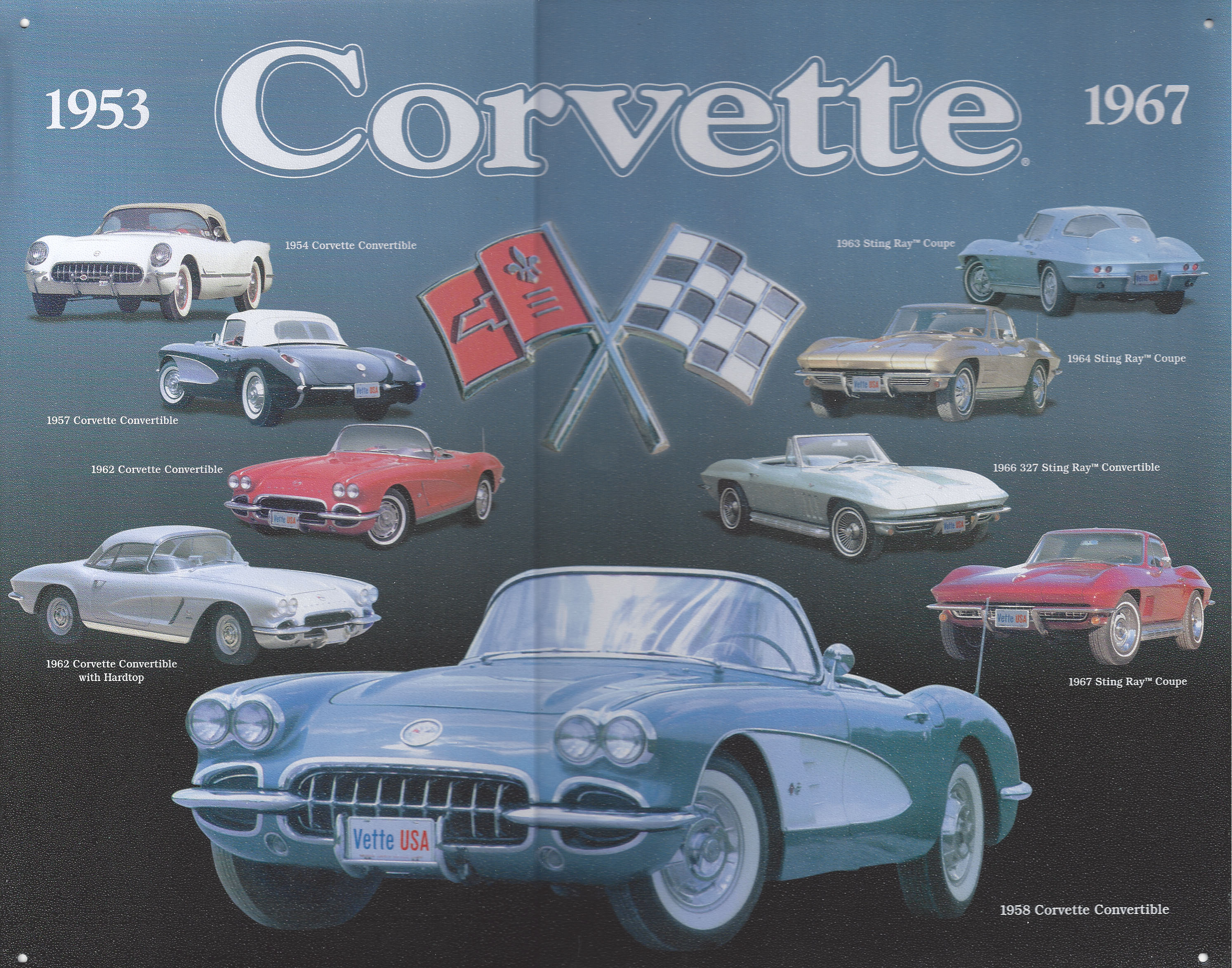 Chevy Corvette 1953-1967 Metal Sign Retro | CrashDaddy ...