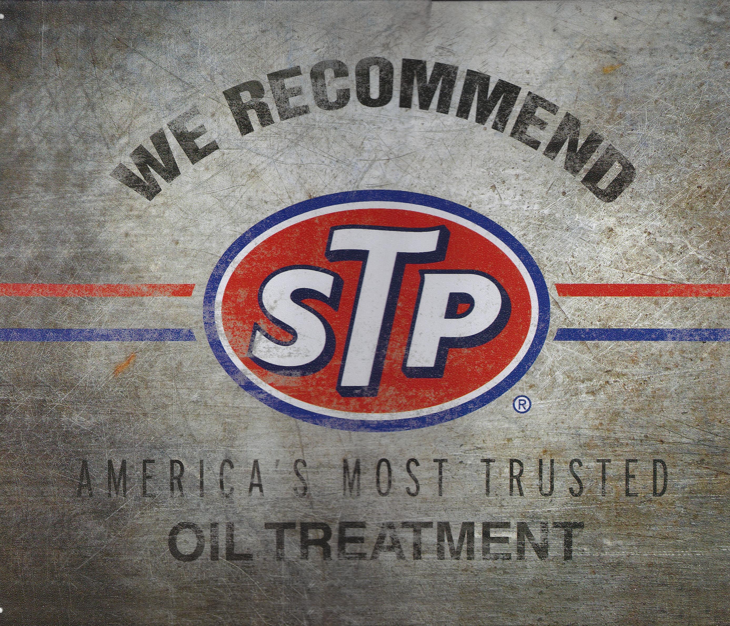 STP We Recommend Metal Sign Retro Nostalgia   CrashDaddy Racing Decals