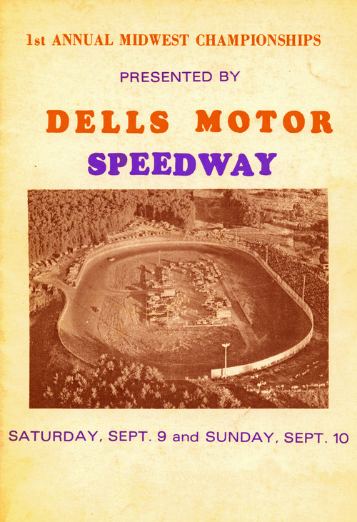 Dells Motor Speedway Wi Racing Poster 1970s Crashdaddy