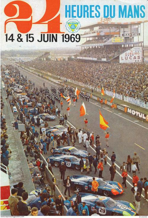 24 hours of lemans race poster 1969 renaults crashdaddy racing decals. Black Bedroom Furniture Sets. Home Design Ideas