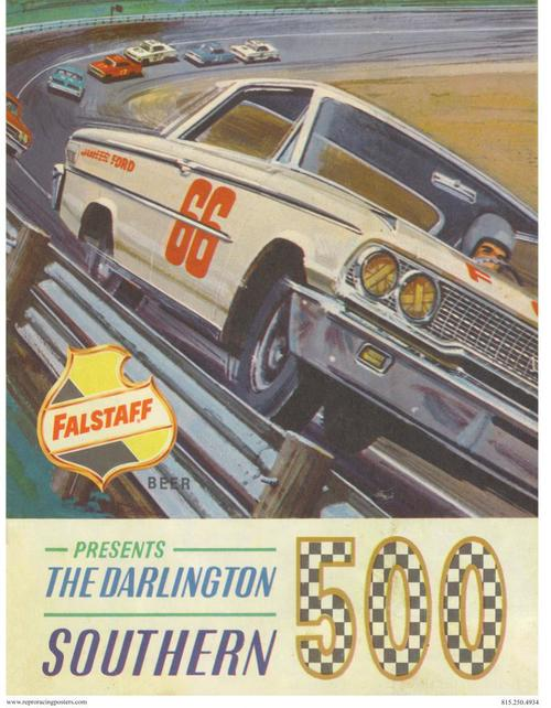 License Plate Holders >> Southern 500 Race Poster Darlington 1962 | CrashDaddy Racing Decals