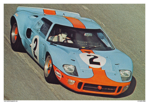 Ford Gt  Gulf Racing Poster