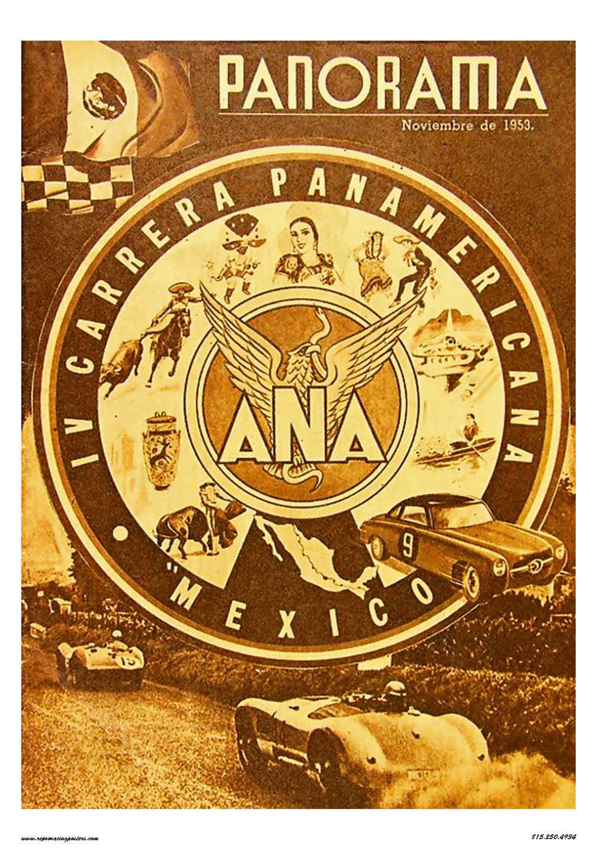 Carrera Pan Americana Racing Poster 1953