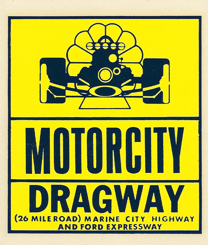 Motorcity Dragway Vintage Water Transfer Racing Decal