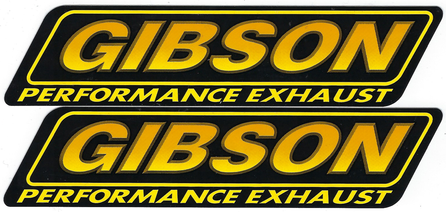 Gibson Racing Decals Stickers 7 5 Inches Long by 1 75 Inches High Paired